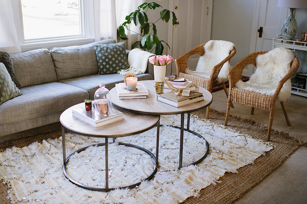 Two Round Coffee Tables