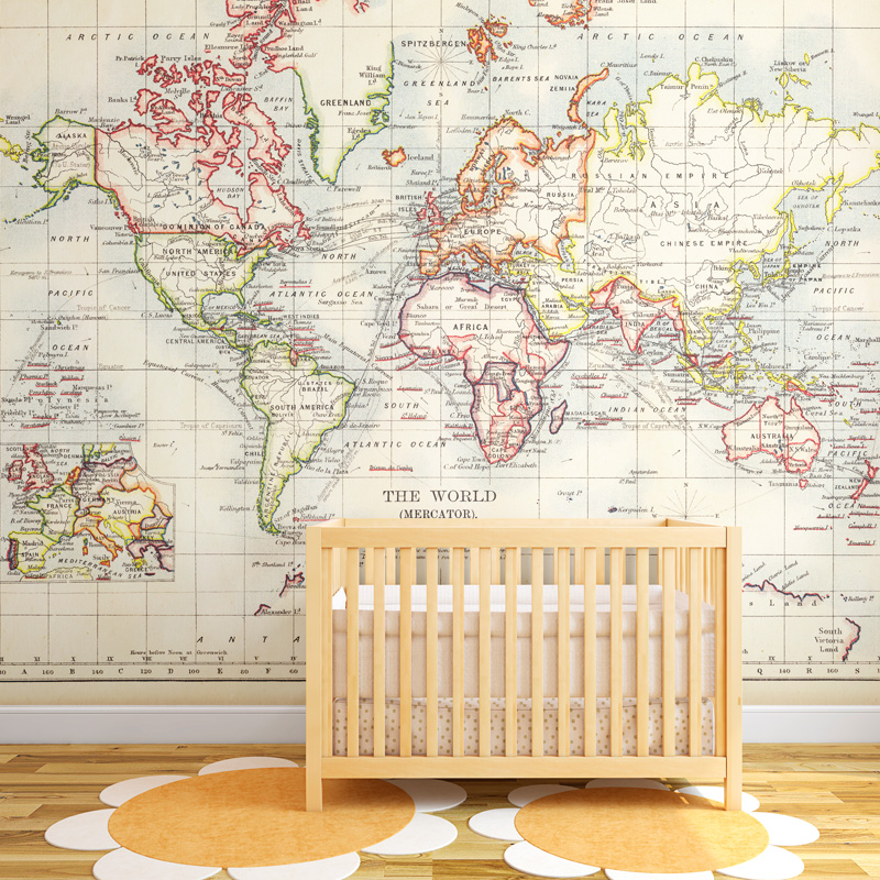 17 cool ideas for world map wall art live diy ideas gumiabroncs Gallery