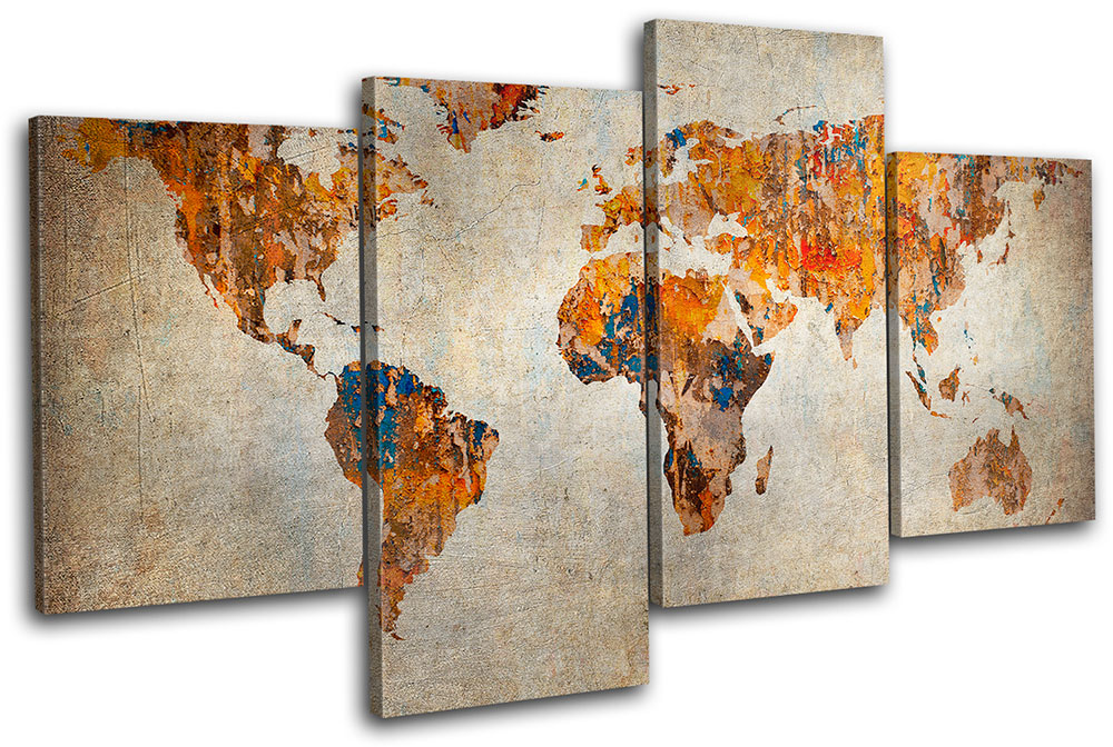 17 cool ideas for world map wall art live diy ideas 17 cool ideas for world map wall art gumiabroncs Images