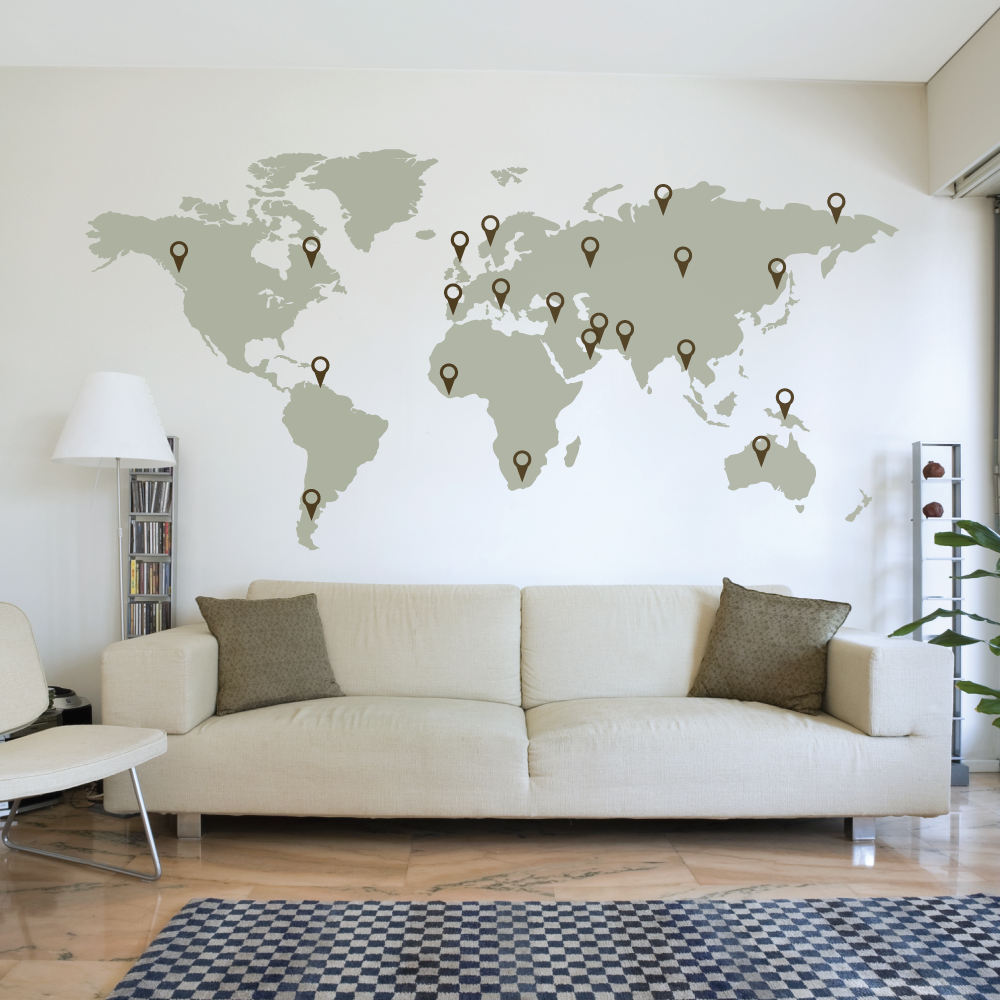 World Wall Art 17 cool ideas for world map wall art - live diy ideas