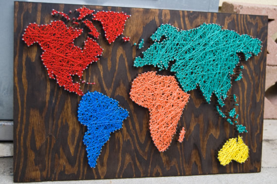 17 Cool Ideas For World Map Wall Art  Live DIY Ideas