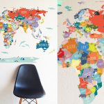 17 Cool Ideas For World Map Wall Art