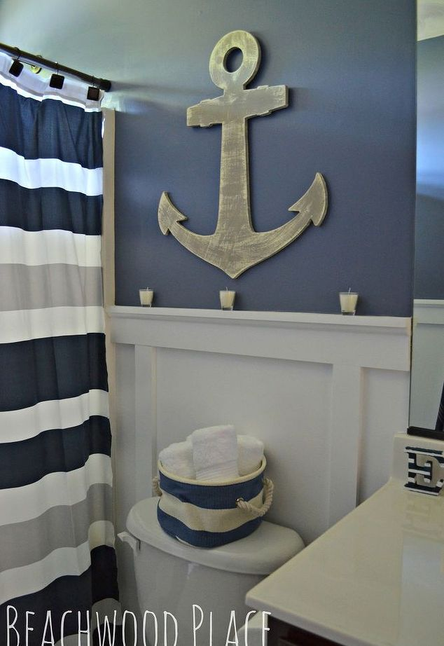 24 awesome nautical home decoration ideas live diy ideas for Bathroom wall decor ideas diy