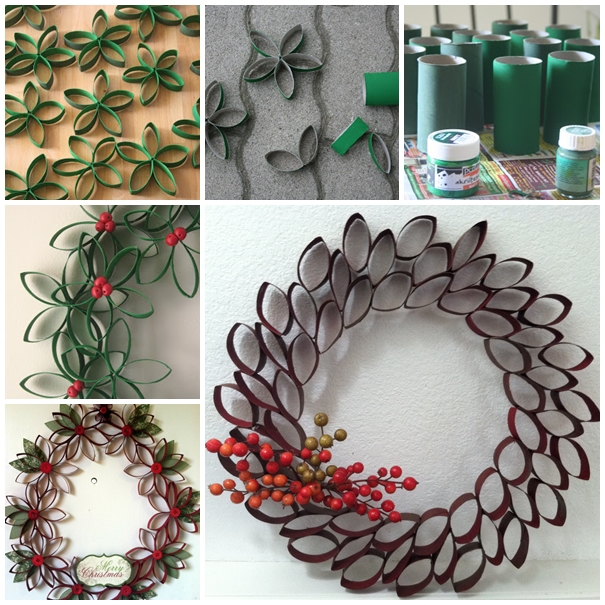 15 DIY Christmas Wreaths From Unexpected Materials