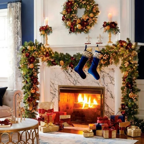 Amazing Christmas Fireplace Decorations